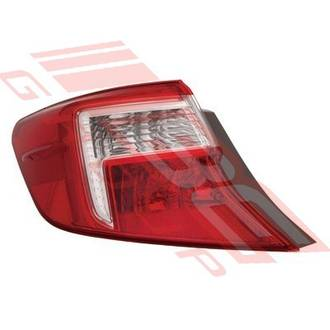 REAR LAMP - L/H - OUTER - CERTIFIED NSF - TO SUIT TOYOTA CAMRY 2012-
