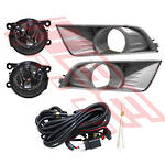 FOG LAMP SET - L&R - WITH WIRING & BEZEL - CHROME - REPLACEMENT PART FOR FORD RANGER 2015-  F/LIFT