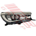 HEADLAMP - R/H - HID - ELECTRIC ADJUSTER - WITH LED - TO SUIT TOYOTA HILUX SR5 2015-