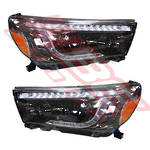 HEADLAMP SET - L&R - TOYOTA HILUX 2015-