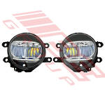 FOG LAMP SET - L&R - TO SUIT TOYOTA HILUX 2018-  FACELIFT