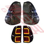 REAR LAMP SET - L&R - SMOKEY - TOYOTA HILUX 2015-