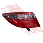 REAR LAMP - L/H - OUTER - BLACK REFLECTOR - TO SUIT TOYOTA CAMRY 2015-  F/LIFT