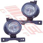 FOG LAMP - SET - L&R - TO SUIT TOYOTA HIACE 2004-