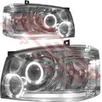 HEADLAMP SET - L&R - CHROME - PROJECTOR - TO SUIT TOYOTA HIACE 2004-