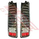 REAR LAMP - SET - L&R - FULL LED - BLACK - TO SUIT TOYOTA HIACE 2004-
